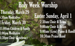 Holy Week Worship