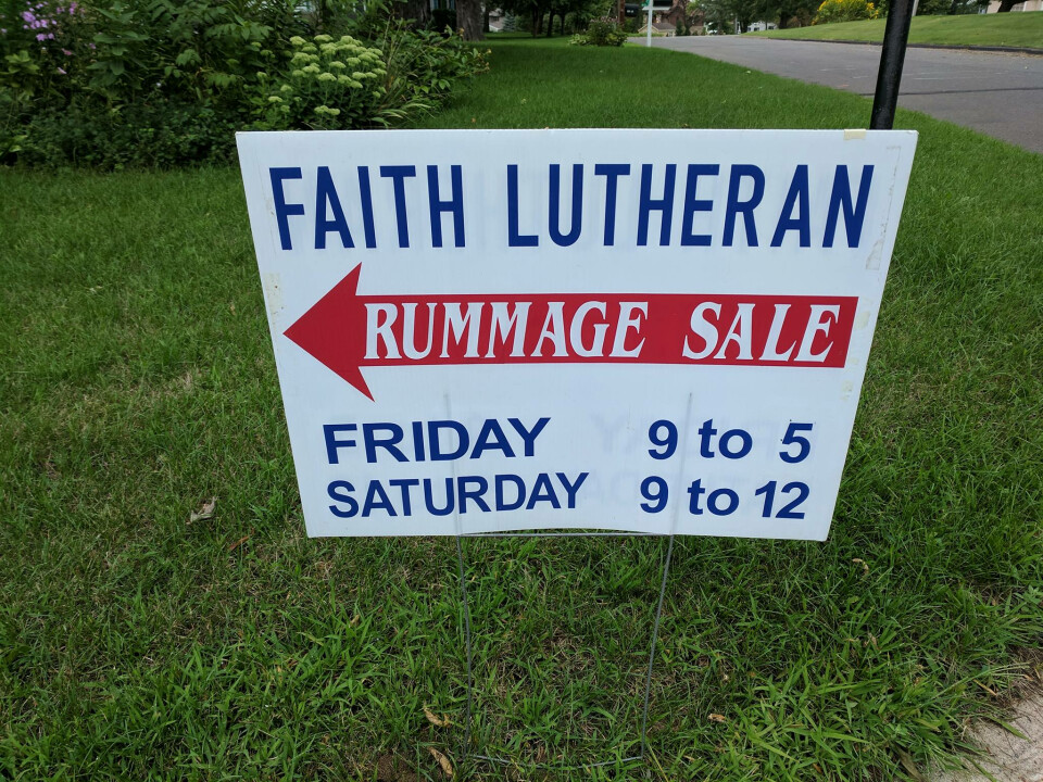End of Summer Rummage Sale